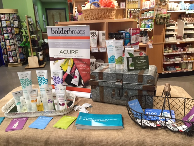 Bolder Brokers at Natural Grocers with Acure